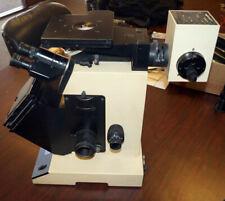 Unimet Unitron 8459 Inverted Microscope Objectives Polaroid Film Holder