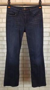 7-For-All-Mankind-High-Waist-Bootcut-Womens-Jeans-Sz-28-Dark-Blue-Wash-Boot-Leg