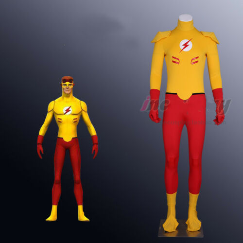Young Justice  Kid Flash Wally West Cosplay Costume