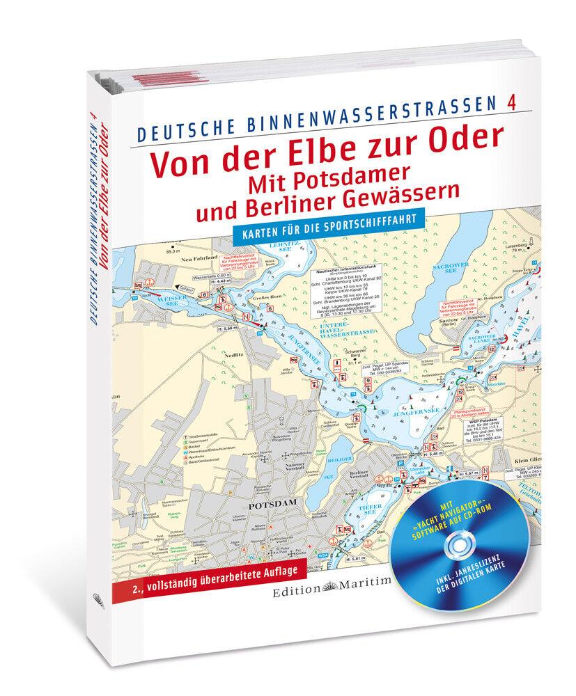 Von der Elbe Binnenwasserstraßen zur Oder Berlin Potsdam Deutsche Binnenwasserstraßen Elbe 4 Karte 2c4690