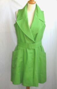 Daniel Pages Robe Ceinture Vert Pomme Lin Et Polyester Doublee 42 Excellent Etat Ebay