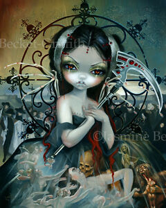 Jasmine-Becket-Griffith-art-print-fairy-skull-angel-SIGNED-Unseelie-Court-Death