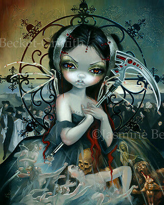 Jasmine Becket-Griffith art print fairy skull angel SIGNED Unseelie Court: Death