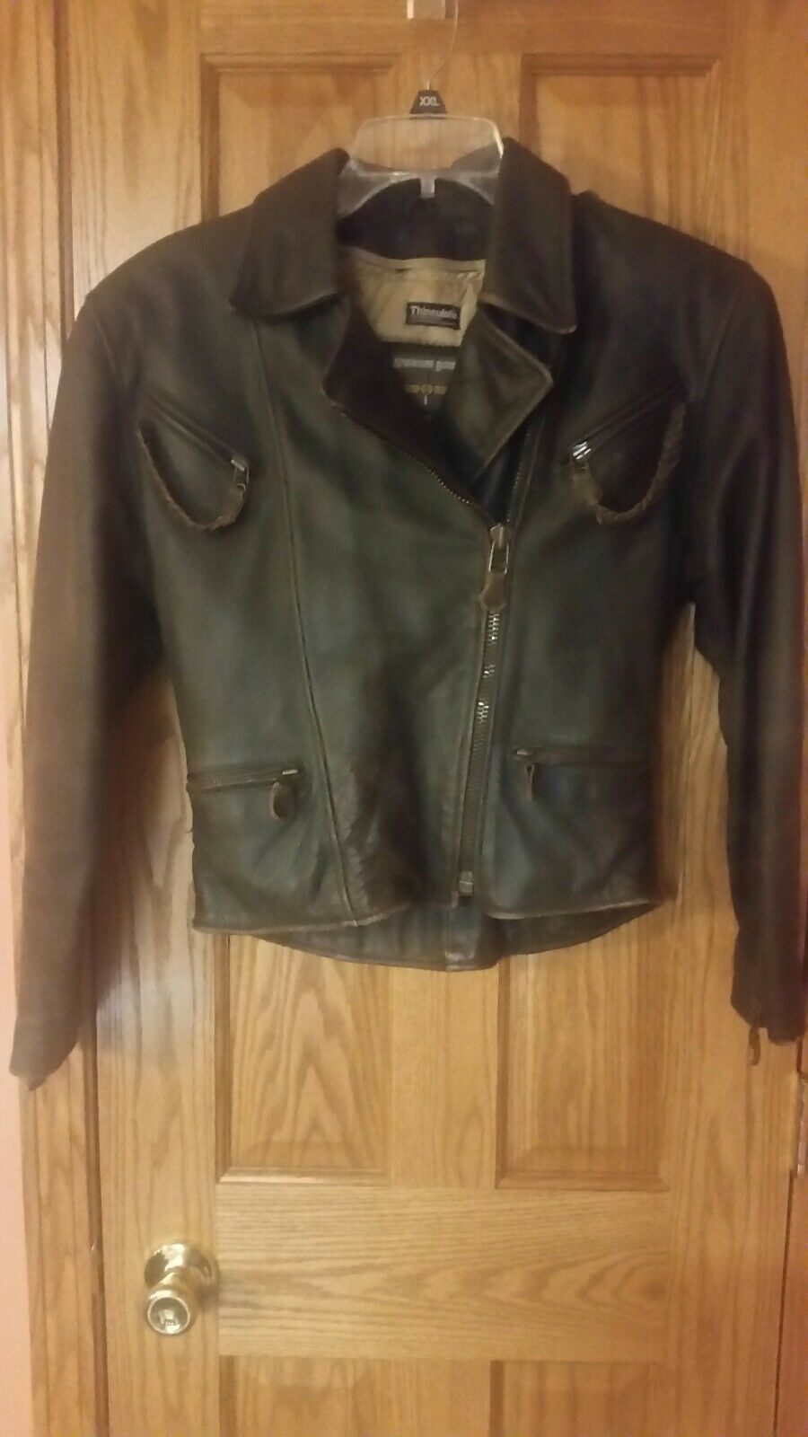 Adventure Bound By Wilsons Brown Distressed Leather Bomber Coat Women's Small