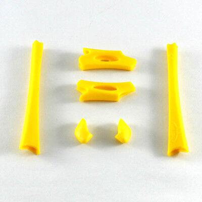 New Walleva Yellow Lower And Upper Earsocks/Nosepads For Oakley Flak Jacket /XLJ