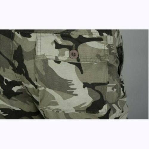 Men/'s Casual Cargo Pants Multi-pocket Straight Camping Trousers Hiking Camo D
