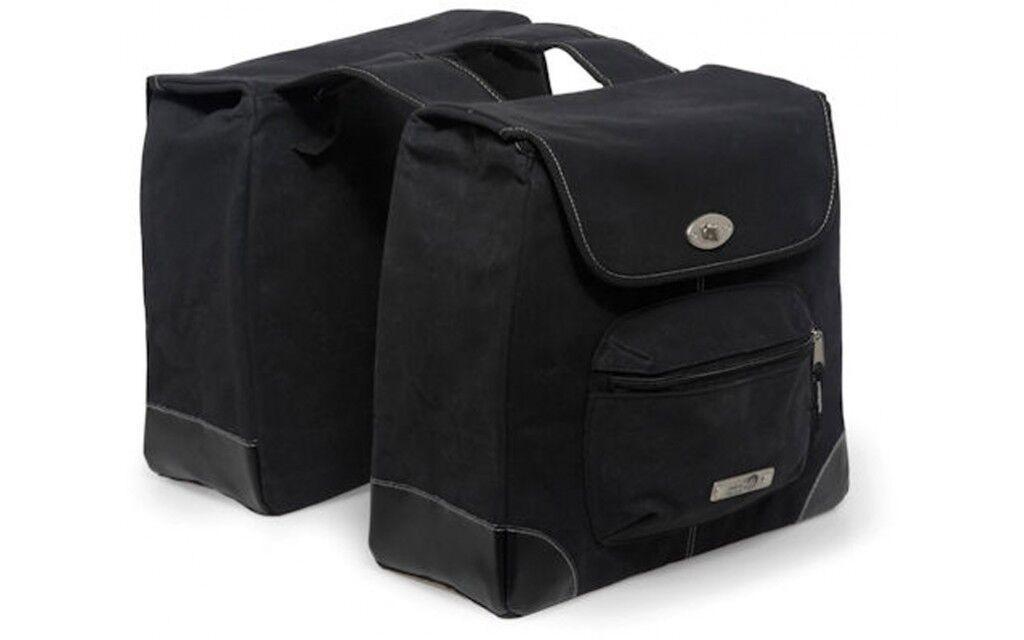 BORSE DOPPIE BICICLETTA BORSA  New Looxs 290 ALBA DOPPIO TELA black  100% authentic
