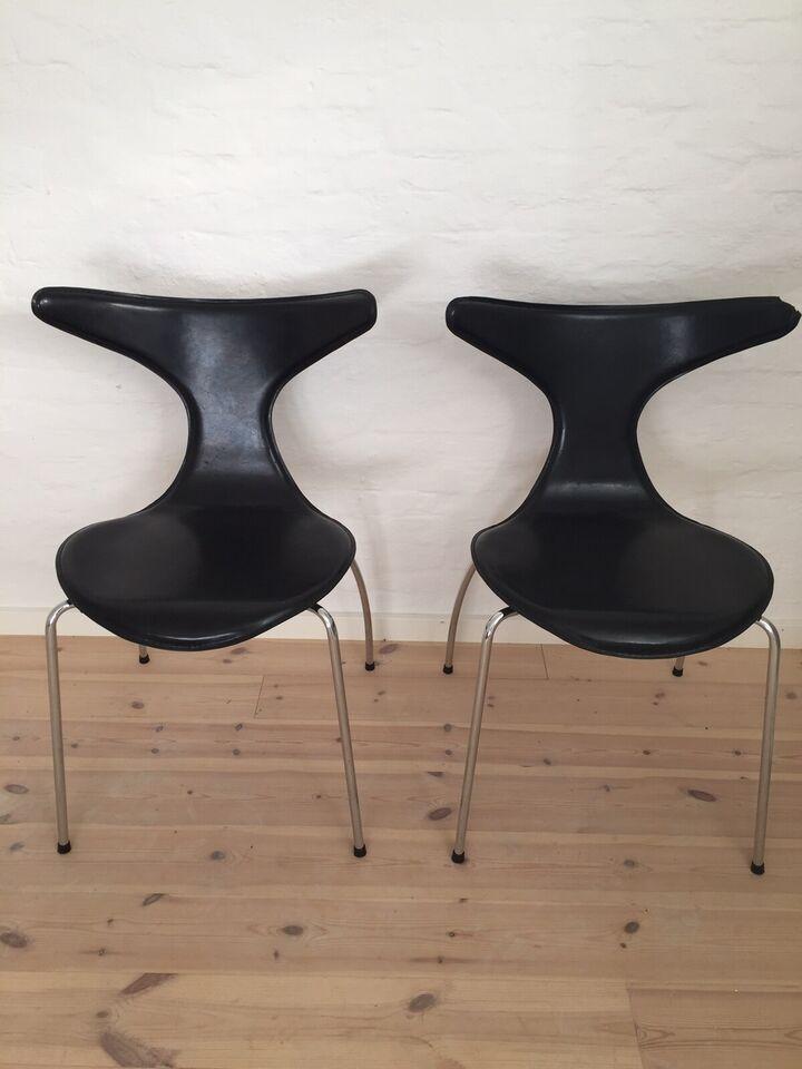 Spisebordsstol, Læder, Dolphin – dba.dk – Køb og Salg af Nyt