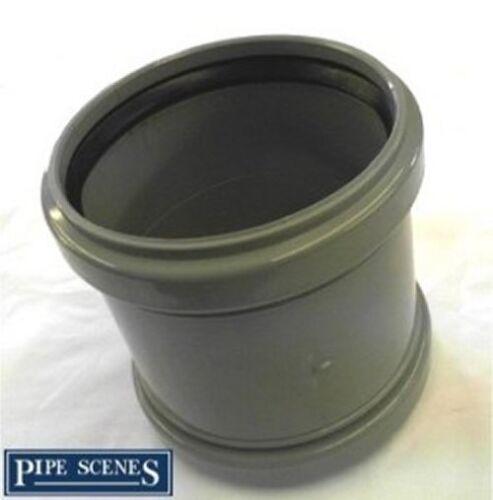 Repair Coupler 110mm Soil Pipe Coupling Slip Type Joiner Grey