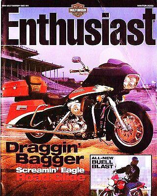 100% Vero Inverno 2000 Harley-davidson Fan Magazine -screamin Eagle Road Glide-blast Firm In Structure