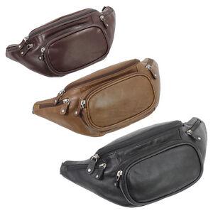 Branco-Guerteltasche-Bauschtasche-schwarz-braun-oder-beige-bzw-natur-Leder-Neu