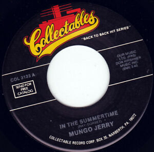 """MUNGO JERRY - In The Summertime 7"""" 45"""