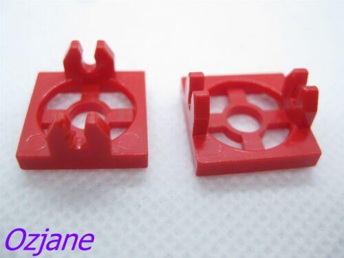 LEGO PART 2609 RED MAGNET HOLDER TILE PLATE 2 X 2 SET OF 2
