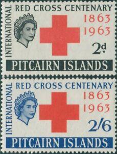 Pitcairn-Islands-1963-SG34-35-Red-Cross-set-MLH