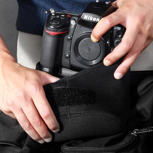 XL Cámara DSLR Funda De Neopreno Manga Bolsa Bolsa Para Nikon Z6 Z7 con Batería Grip