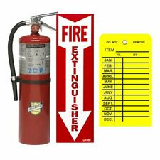 10 Lb Buckeye Abc Fire Extinguisher With Wall Hook Sign And Inspection Tag