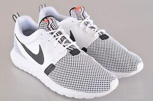 15dfc709db69 Nike Roshe Run NM BR Breeze Sz 6-13 White Black Hot Lava 644425-100 ...