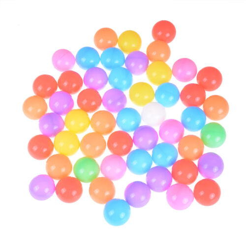 10X Colorful Soft Plastic Ocean Ball 55mm Safty Secure Baby Kid Pit Toy UK