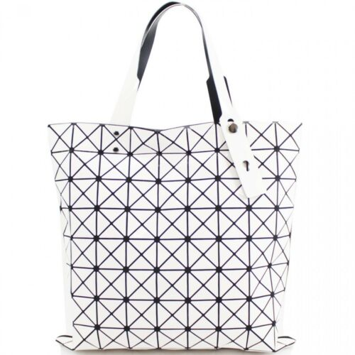Womens Prism Glossy Metallic Geometric Handbag Tote Hobo Shopper Shoulder Bag