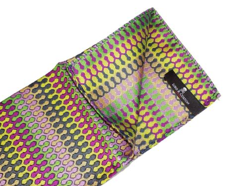 $75 New Dragon Skin Green Pink Gold Lord R Colton Masterworks Pocket Square