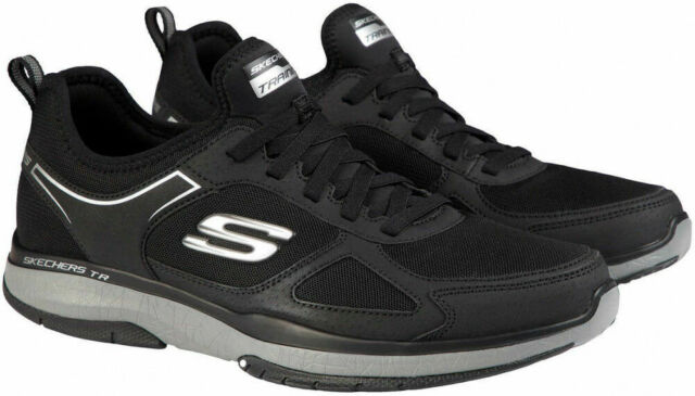Skechers Men's Burst Slip On Memory Foam Athletic Shoes Black, Pick A Size