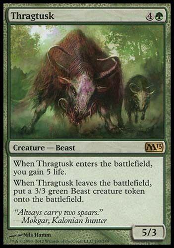 1x Thragtusk M13 MtG Magic Green Rare 1 x1 Card Cards