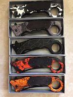 Karambit Pocket Knife - Spring Assisted, Locking Blade -3 Stainless Steel Blade