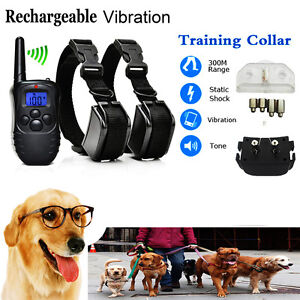 Rechargeable-Electric-Shock-Collar-Dogs-Training-Remote-Control-Anti-Barking-r