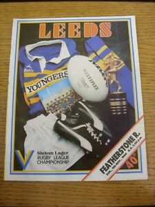 11111984 Rugby League Programme Leeds v Featherstone Rovers   Thanks for vie - <span itemprop='availableAtOrFrom'>Birmingham, United Kingdom</span> - Returns accepted within 30 days after the item is delivered, if goods not as described. Buyer assumes responibilty for return proof of postage and costs. Most purchases from business s - <span itemprop='availableAtOrFrom'>Birmingham, United Kingdom</span>