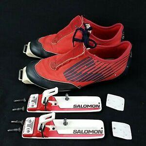 Salomon-SR-801-SNS-Cross-Country-Ski-Shoes-w-SNS-equipe-bindings-Size-6