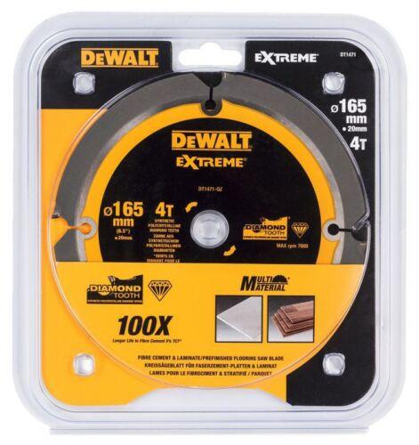 DEWALT DT1471 165mm X 20mm Bore 4T PCD Saw Blade