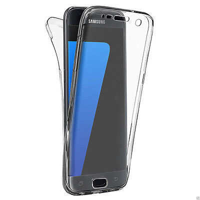 Clear Front+Back Full Body Protective Case For Samsung Galaxy S7/S7 Edge A5 2017