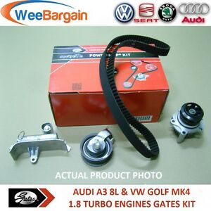 AUDI-A3-TT-VW-GOLF-IV-1-8-T-FULL-GATES-KP15491XS-Timing-Belt-Kit-with-Water-Pump