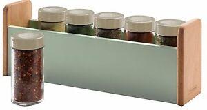 Typhoon Vintage comptoir Hêtre Bois étagère à épices avec 6 étanche Spice Jars  </span>
