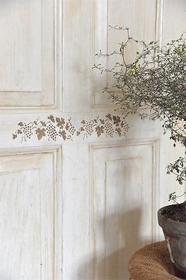 Shabby chic vintage stencil pochoir Christmas meubles mur textile rideaux