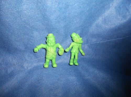 """Vintage Set of 2 1983 Laurel /& Hardy 2 1//2/"""" Green Toy Erasers C"""