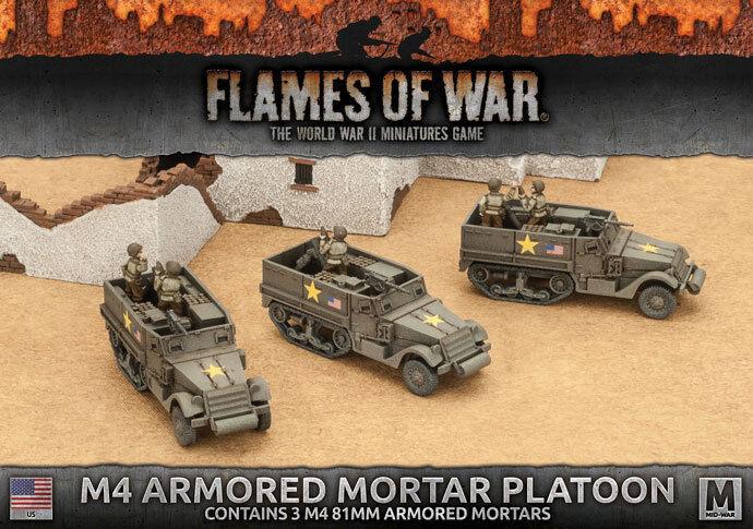 T28E1 (37mm & .50cal) AAA (SP) Platoon (4x) Battlefront Miniatures