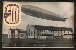 1932-Germany-Graf-Zeppelin-RPPC-Postcard-Cover-LZ-127-To-Strasbourg-Via-Danzig