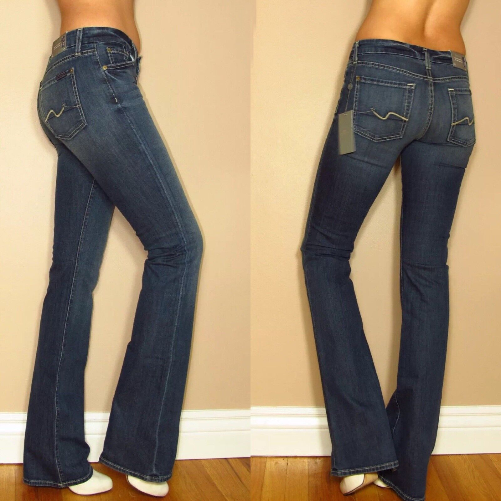 Seven 7 For All Mankind Kimmie Curvy Bootcut Gummy Jeans Mid-Rise 24 XS Vintage