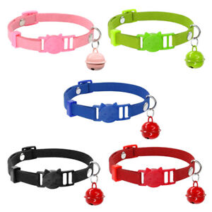Suede-Kitten-Cat-Breakaway-Collar-with-Bell-Safety-Quick-Release-for-Pet-Puppy