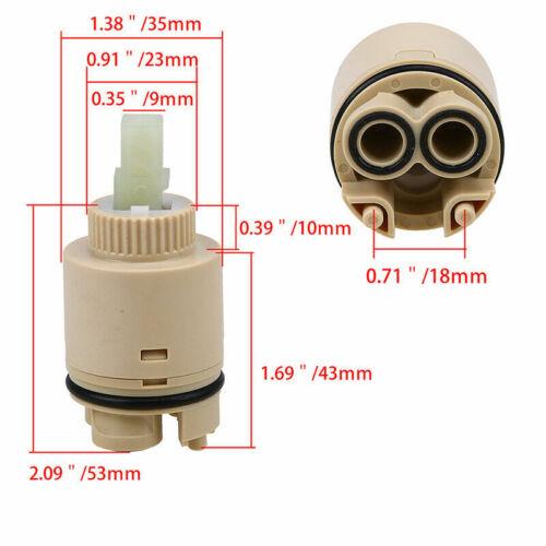 Cartridge Mixer Ceramic Cartridge Valve for Faucet Replace Part Tools 25//35//40mm