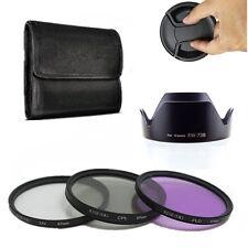 67mm UV CPL FLD Lens Filter Kit Lens Hood EW-73B For Canon EF-S 18-135mm 17-85mm