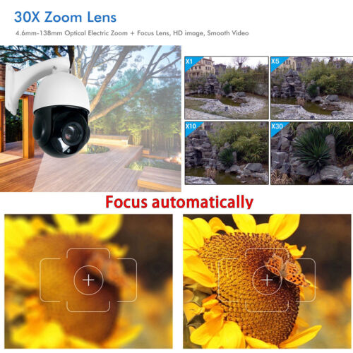 Sony 4.5/'/' 30X Zoom 1080P 2MP Outdoor HD PTZ IP Speed Dome Camera Outdoor Audio