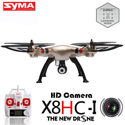 Syma X8HC 2.4GHz 4CH 6-Axis Gyro RC Quadcopter Drone RTF with 2MP HD Camera Gold
