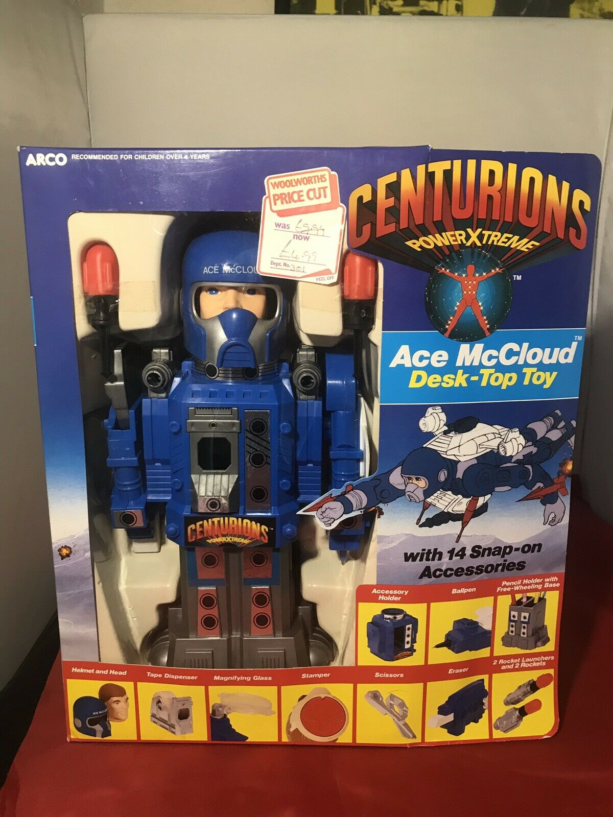 Centurions Ace McCloud Desk top Spielzeug Kenner Ex Woolworths Stock Unused