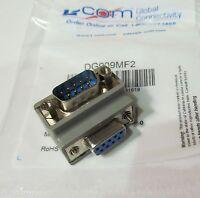 L-com Dg909mf2 D-sub Connector Adapter Db9 Male-female 9-pin 90° Angle