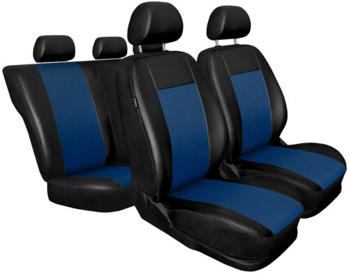 CAR SEAT COVERS full set fit BMW 3 Series Leatherette Black//Blue