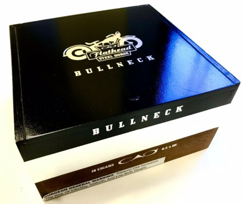 CAO Flathead steel Horse Bullneck Large Empty Cigar Box