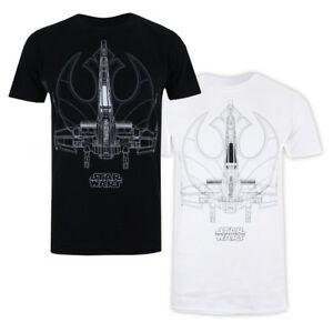 Mens-Star-Wars-The-Last-Jedi-X-WING-LINES-T-Shirt-Licensed