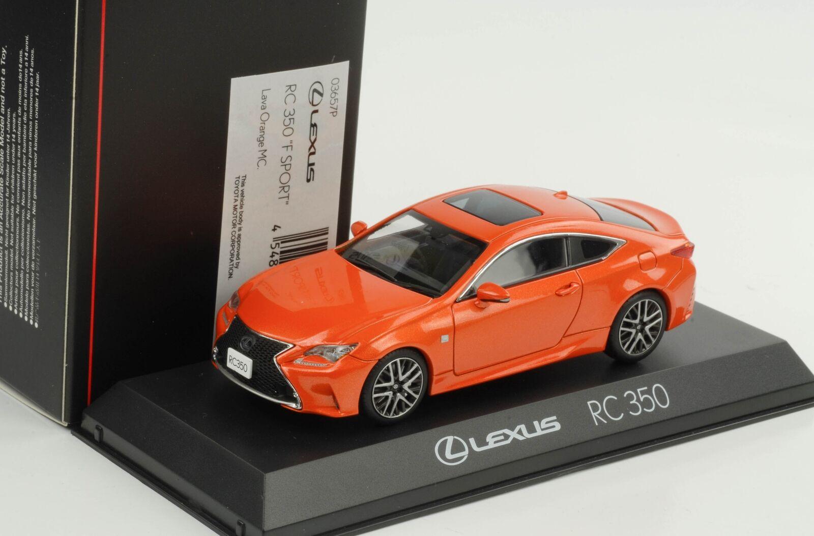Lexus RC 350 F Sport Lava orange MC 1 43 Kyosho diecast